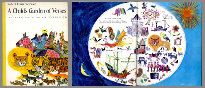 A Child's Garden of Verses cover + spread