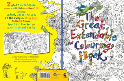 The Great Extendable Colouring Book cover