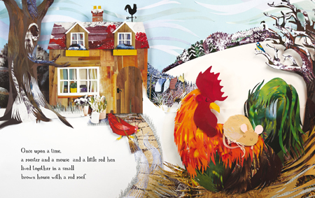 The Little Red Hen spread 1