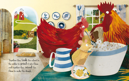 The Little Red Hen spread 2
