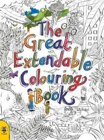 The Great Extendable Colouring Book front cover